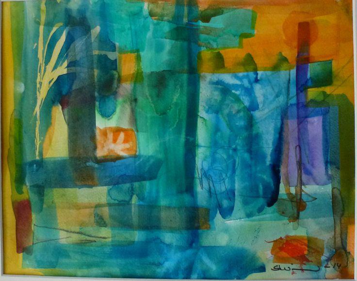 Summernight Fever, Sirkkaliisa Virtanen, watercolor 2014