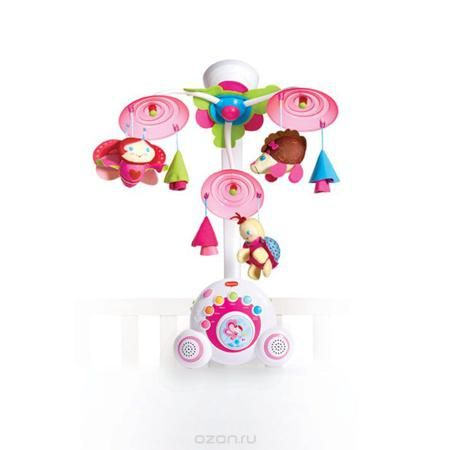 """Tiny Love Музыкальный мобиль Бум-бокс  — 7116р. ---------------- Яркий музыкальный мобиль """"Бум-бокс"""" - это оригинальная музыкальная игрушка, создающая атмосферу уюта и спокойствия в детской комнате. Под приятные мелодии на мобиле медленно вращаются три игрушки. Основные особенности мобиля """"Бум-бокс"""": уникальный механизм движения; верхняя подсветка; 6 разновидностей музыки, 18 различных мелодий; кнопка воспроизведения мелодий в случайном порядке; два высококачественных динамика звенья и…"""