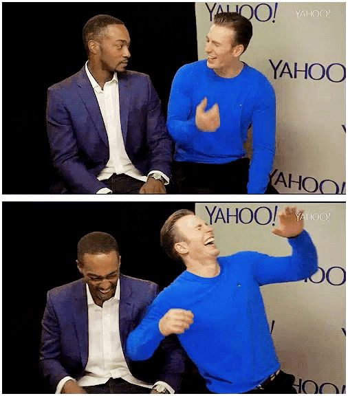 I just love that Mackie just grabs the chair to help him out like this is a normal thing that happens everyday.