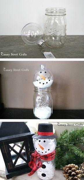 Cheap and easy DIY Christmas decor idea made out of a mason jar