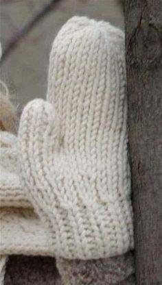Padrão de tricô sem luvas de lã quente