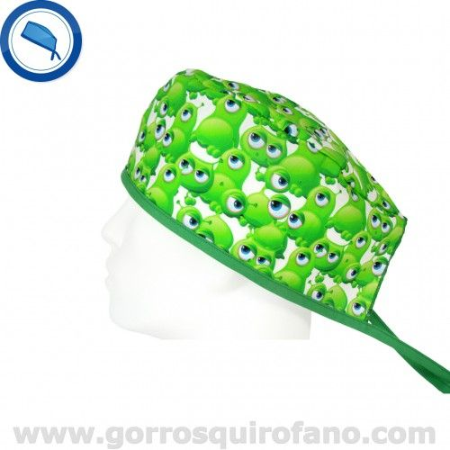 http://www.gorrosquirofano.com/producto/gorros-quirofano-extraterrestres-verdes-divertidos/  Gorros Quirofano Extraterrestres Verdes divertidos