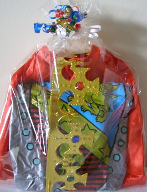 Favors for Boys at a Princess Birthday Party. Themes include Knights with Swords and Crowns, Pirates with Eye Patches and Prince Party Favorites