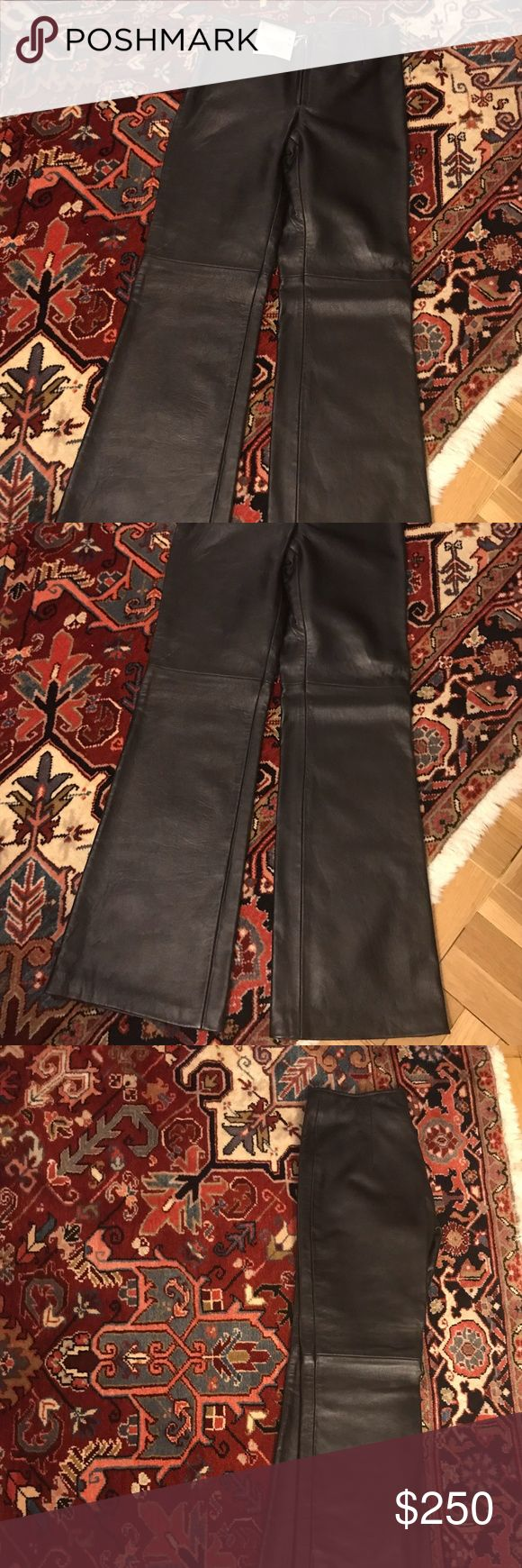 NWT 100% Genuine Lambskin Leather Pants Brand new with tags! 100% Genuine Lambskin Leather Pants - style is flared. Would fit size xs/24 to 25 inch waist. Novin Leather Pants