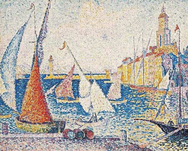 Port St.Tropez 1899 di Paul Signac
