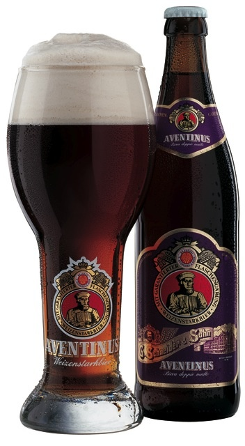 SchneiderAventinus: A Weizenbock (dark wheat) beer and supposedly one of the best beers in the world.