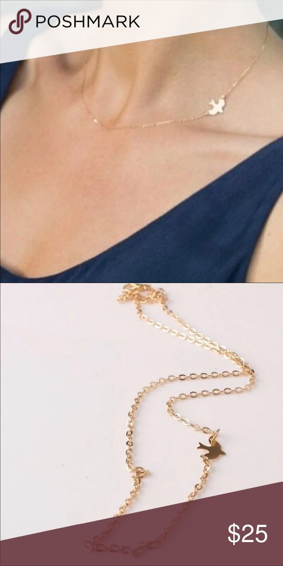 Simple  Double Peace Pigeon Gold Necklace Simple  Double Peace Pigeon Gold Necklace Jewelry Necklaces