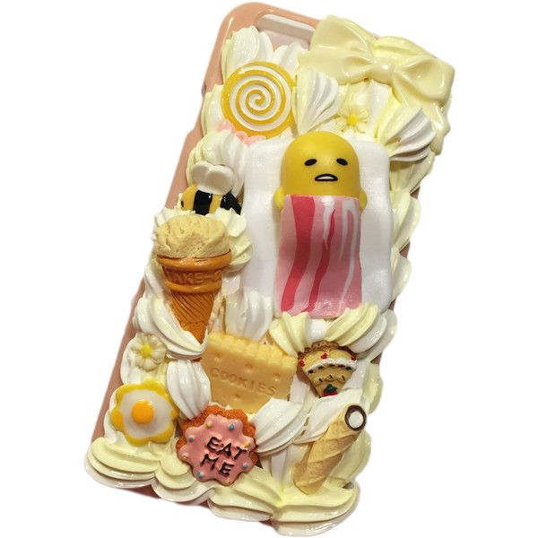 NEW! Ready to Ship! iPhone 6 Gudetama Decoden Phone Case ❤ liked on Polyvore featuring accessories and tech accessories