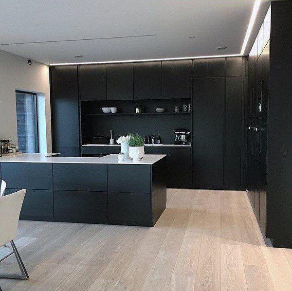 Modern Black Painted Kitchen Cabinet Design Ideas In 2020 Modern Kitchen Design Modern Kitchen Kitchen Cabinet Design