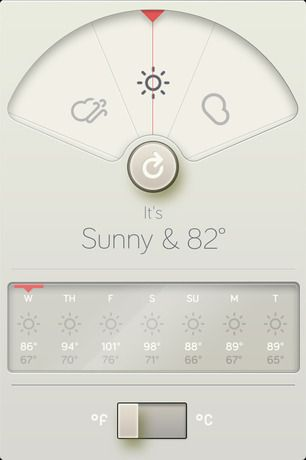 "WTHR: Dieter Rams' ""10 Principles"" forecast the weather in a new iPhone app"