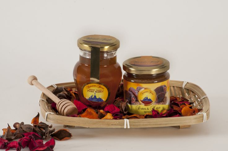Our dates are produced by luscious groves of exotic palm trees such as: the Amir Hajj', 'Saidy', 'Khadrawy and 'Medjool', all within the warm Jordan Valley.  Nazareth Secret Dates & Halva Spread is prized for its wonderful aroma, its rich brown color and unique flavor.   Superior quality.100% natural, wholesome product that exemplifies the finest dates of the region!