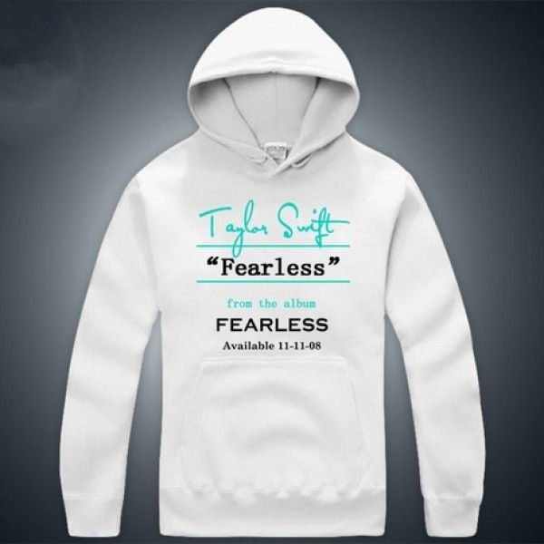 Country singer Taylor Swift Fearless album hoodie sweater