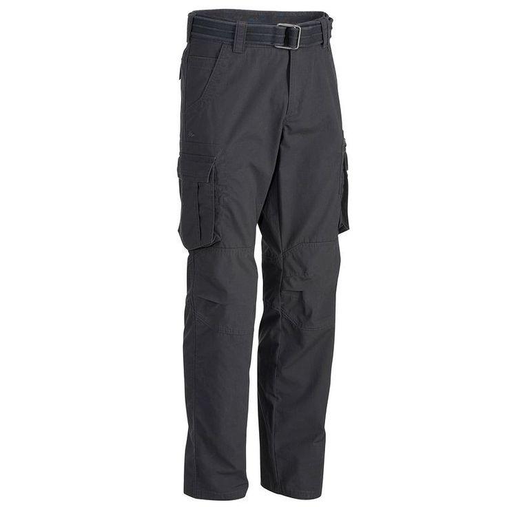 QUECHUA Arpenaz 500 Men's Walking Trousers - Dark Grey  - Lightweight - £24.99