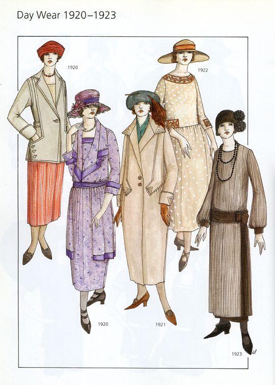 Day Wear Fashion 1920 1923 From 20th Century Fashion By John Peacock Day Wear Fashion 1900s