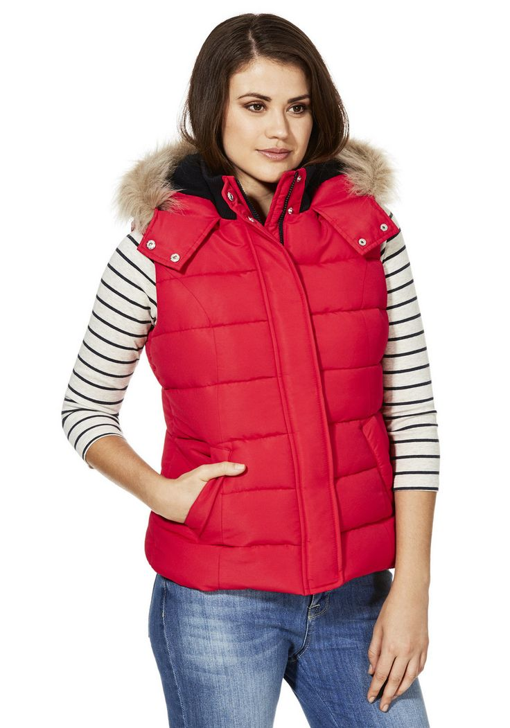 Clothing at Tesco | F&F Fleece Lined Padded Gilet > jackets > New In > Women