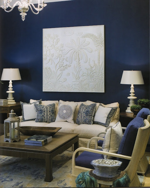 phoebe howard dark navy blue walls decor ideasdecorating
