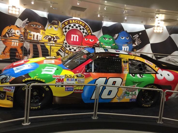 kyle bush 39 s m m car in the m m store in las vegas nascar pinterest kyle busch and nascar. Black Bedroom Furniture Sets. Home Design Ideas