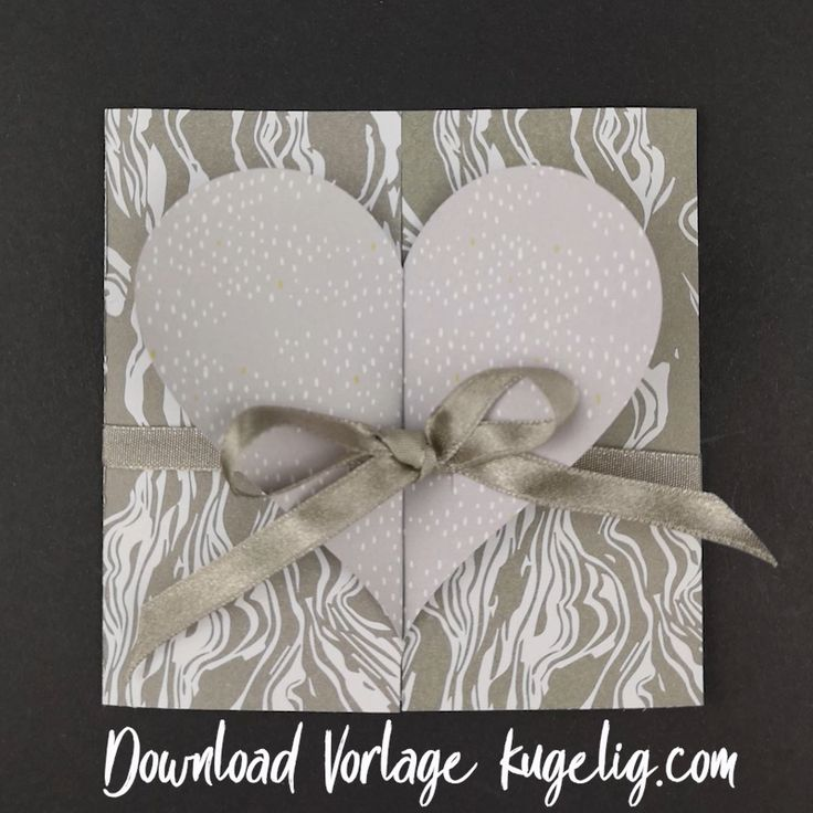 Make simple wedding card – with craft template & Plotterfreebie