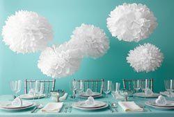 Martha Stewart Doily Lace White Pom Poms