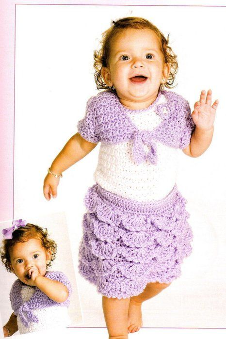 33 best crochetbaby skirts images on pinterest crocheting crochet for babies children crochet kids clothes patterns stitch a sweet ruffled skirt with matching shell and bolero for your little one dt1010fo
