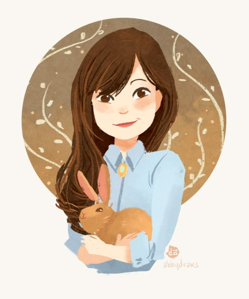 valeriechua:  One of my students made an illustration of me. So cute!!! *u* I love Abby's work. She's mainly a digital artist but her waterc...