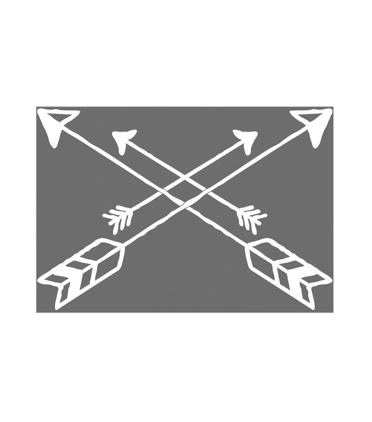 Iron-On Transfer Crossing Arrows Design-White