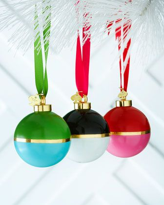 Colorblock Ball Christmas Ornaments by kate spade new york at Horchow.