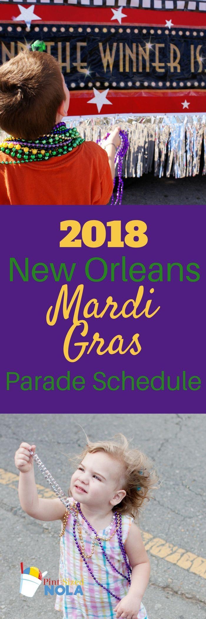 2018 New Orleans Mardi Gras Parade Schedule