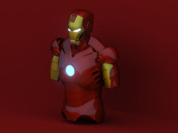 (WIP) Low Poly model of Iron Man MK III, made in 3Ds Max