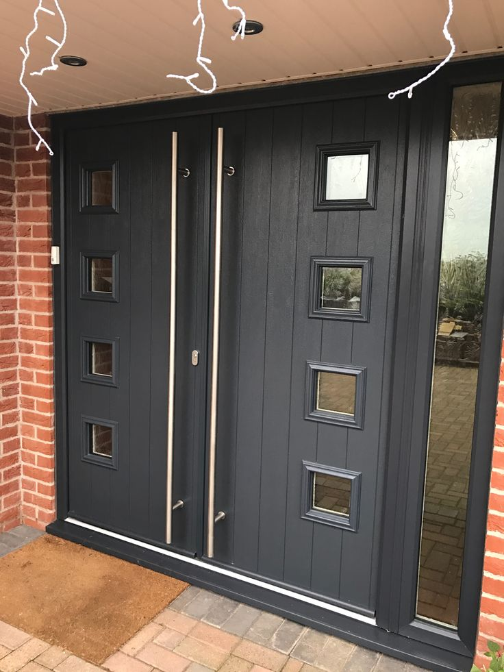 Anthracite grey ral7016 on white solidorltd milano for 1800mm french doors