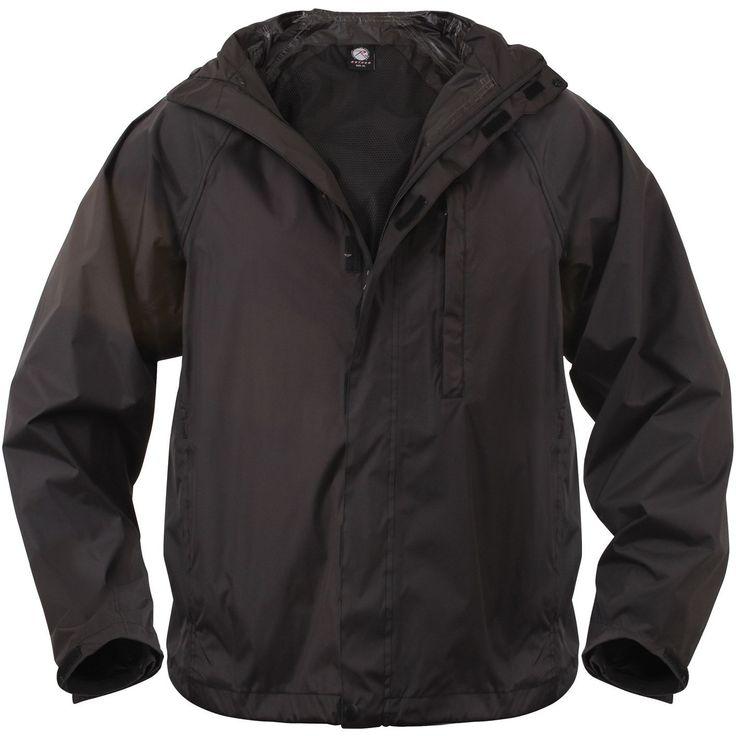 Packable Rain Jacket - Rothco