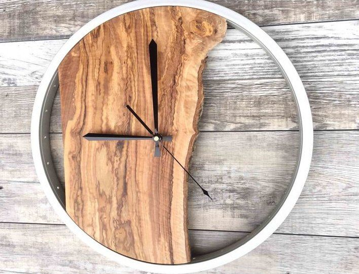 Home Decor Tools Home Improvement Large Wood Wall Clock Unique Wall Clock Wood Wall Art Office Wall Dec In 2020 Wall Clock Wooden Diy Clock Wall Clock Wall Decor