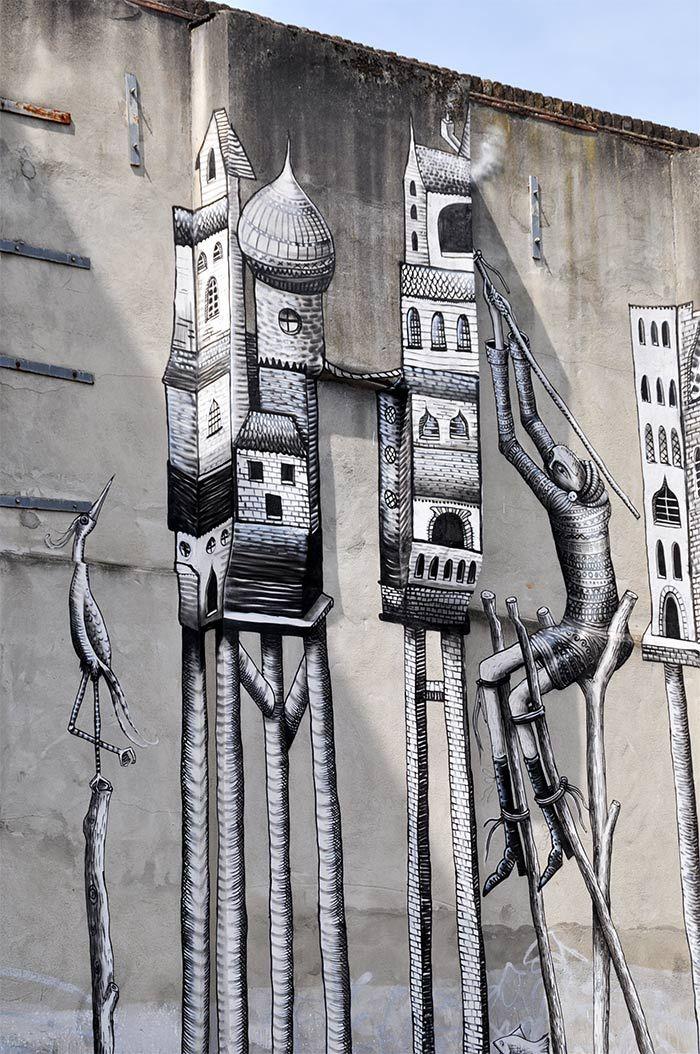 Street art Londres Phlegm – Jessie Fields