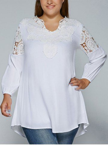 GET $50 NOW | Join RoseGal: Get YOUR $50 NOW!http://www.rosegal.com/plus-size-tops/plus-size-crochet-lace-splicing-688622.html?seid=7073206rg688622