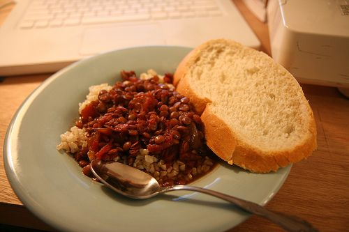 How to Cook Brown Rice and Lentils Together in a Rice Cooker: Recipes Ideas, Brown Rice, Lentils Chilis, Cooking Brown, Yummy Recipes, Vegetarian Slow Cooker, Rice Cooker, Lentils Beef Chilis, Vegetarian Recipes