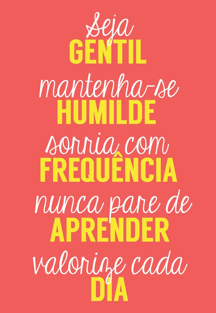 Poster Frase Seja gentil mantenha-se humilde - Decor10
