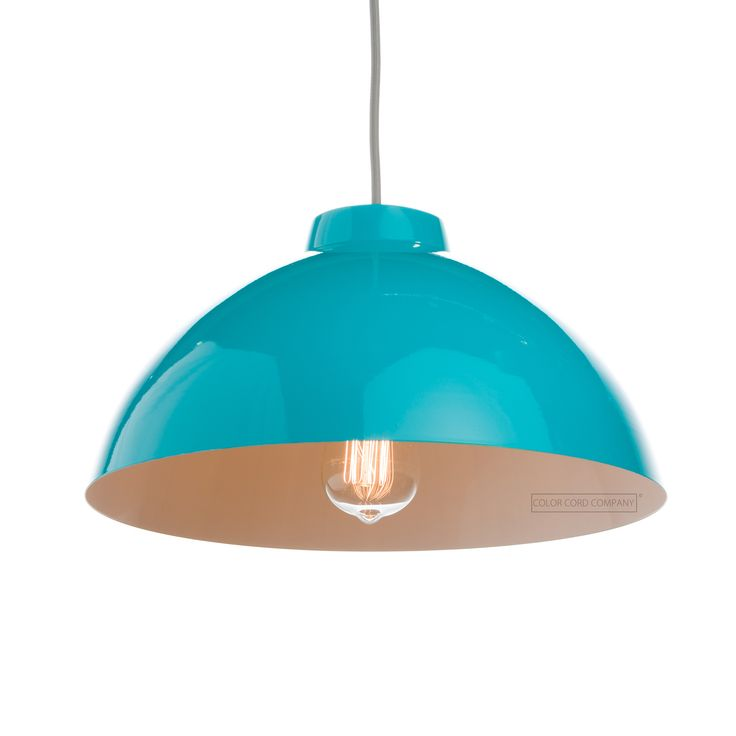 12 best pendant light shades metal images on pinterest light turquoise gloss exterior white gloss interior high quality steel fabrication compatible with our standard pendant light cord set compatible with our aloadofball Choice Image