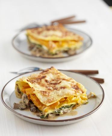 ZTRDG: Vega lasagna met spinazie en pompoen