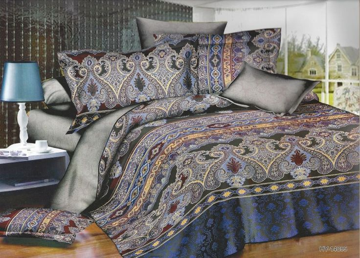 3 pcs luxury microfiber printed bedspread coverlet quilt set queenfull