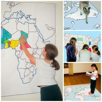 Print out country and world maps of all sizes -- free!
