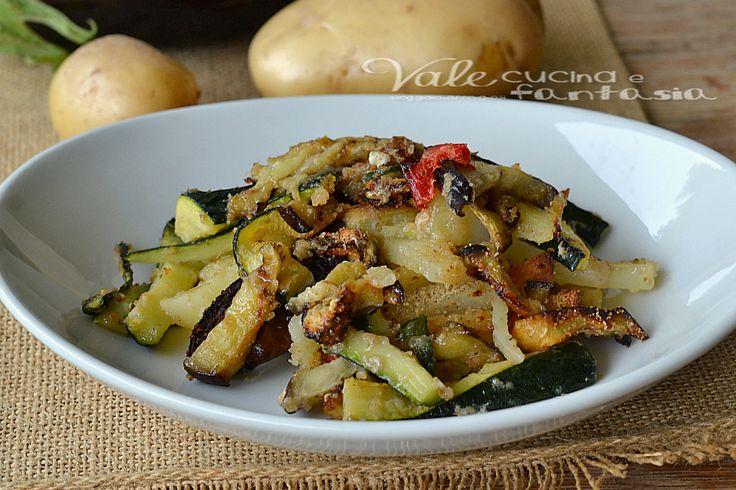 Verdure al forno ricetta contorno facile economica e saporita, ottime per accompagnare ogni tipo di secondo che sia carne o pesce, ideali anche fredde