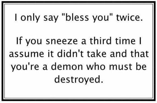 Ah-choo!: Blessed, Laughing, Demons, Remember This, Quote, Giggl, Humor, Funnies Stuff, True Stories