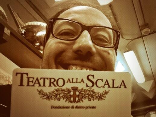 #musicstreets Ultima immagine #giuseppecacciola @Teatro alla Scala > oggi h18 p. GaeAulenti a Mi