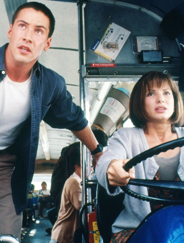 Keanu Reeves and Sandra Bullock in Speed, 1994. Via http://hollywoodlady.tumblr.com/