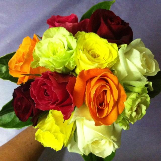 Wedding flowers... A splash of colour