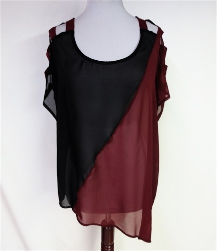 The Split Decision Top  w/ladder sleeves-NEW! $29.95