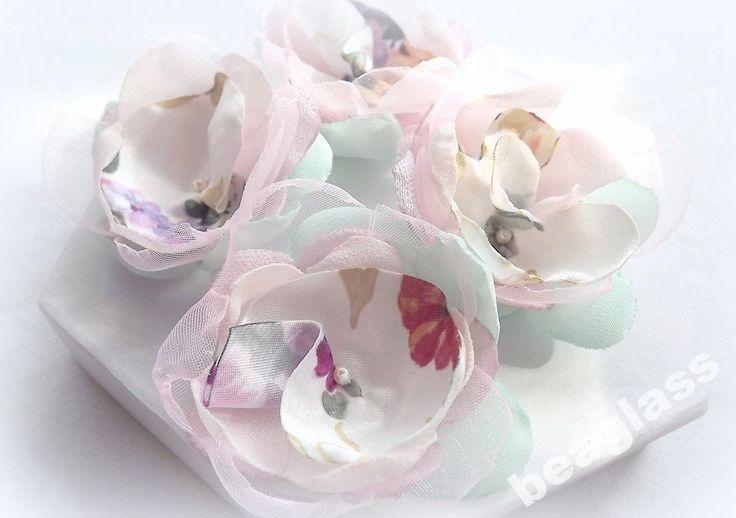 Kwiaty do rękodzieła. Scrapbooking. Ozdoby. Ślub
