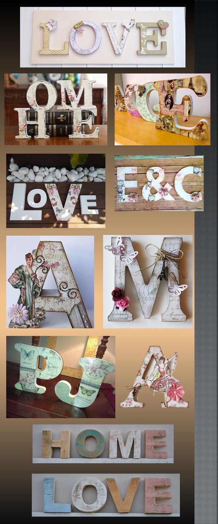 las 25 mejores ideas sobre letras de madera decoradas en