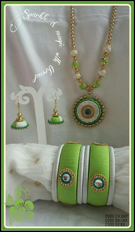 Silk thread bangles   buy online   CityFashions   +91 9703713779