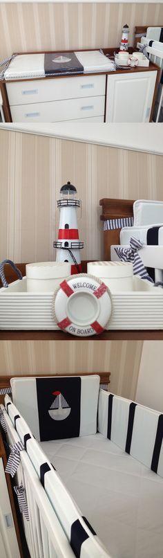 Ideias para quarto de bebê marinheiro que você não pode deixar de ver! Ideas for a baby sailor bedroom that you must see!